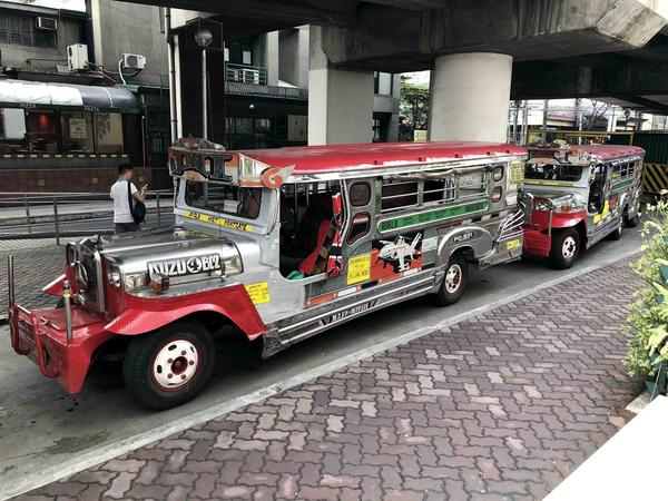 Jeepneys line up at a depot in Makati City in Manila. Jeepneys are the main mode of transportation for Filipinos nationwide, moving millions to and from work every day.