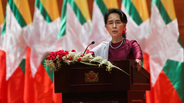 Myanmar State Counselor Aung San Suu Kyi, in a national address in September, said she felt deeply for the suffering of all people caught up in conflict scorching through Rakhine state — in her first comments that also mentioned Muslims displaced by violence.