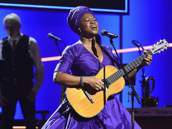 India.Arie, performing onstage during the pre-telecast Grammy Awards ceremony in New York City in January 2018.