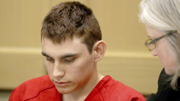 Nikolas Cruz, 19, shown here in court on Feb. 19, has been indicted on 17 counts of first-degree murder. If convicted, he could face a death sentence.