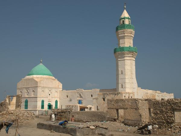 The el-Geyf mosque on the island of Suakin, Sudan.