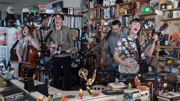 Kuinka performs a Tiny Desk Concert on Jan. 25, 2018 (Jenna Sterner/NPR).