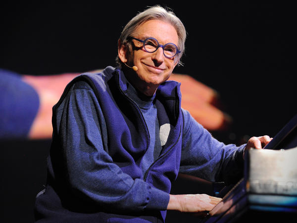Michael Tilson Thomas on the TED stage.