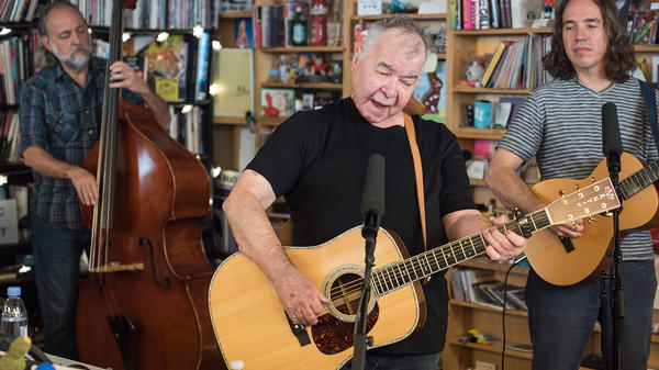 John Prine performs a Tiny Desk Concert on Nov. 9, 2017 (Christina Ascani/NPR).