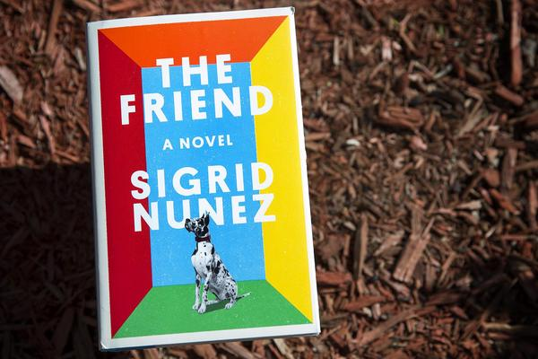 """The Friend,"" by Sigrid Nuñez. (Robin Lubbock/WBUR)"