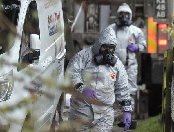 "Military forces continue investigations Monday into the nerve agent poisoning of Sergei Skripal and his daughter, Yulia. U.K. Prime Minister Theresa May says it is ""highly likely"" that it was carried out by Russia."