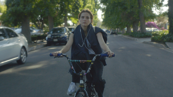 Petal Pusher: Erica (Zoey Deutsch) and her friends team up to stalk a potential child molester in the off-kilter comedy <em></em><em>Flower. </em>