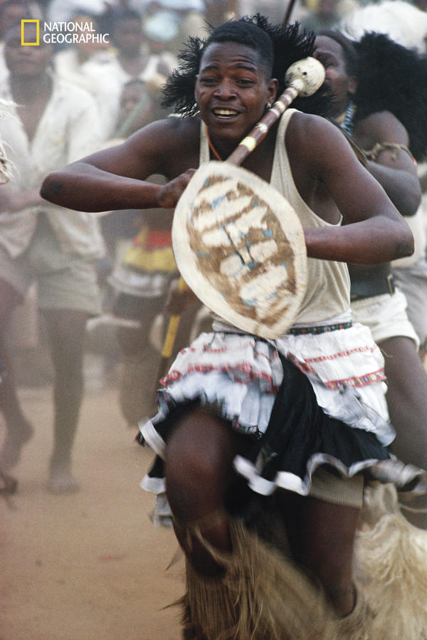 "South African gold miners were ""entranced by thundering drums"" during ""vigorous tribal dances,"" a 1962 issue reported."