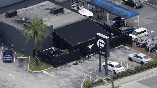 An overhead view of Pulse nightclub in Orlando, Fla., where Omar Mateen killed 49 people and injured dozens more in June 2016. On Wednesday, attorneys delivered opening statements in the trial of his widow, Noor Salman, the only person charged in the attack. Her husband died at the scene.