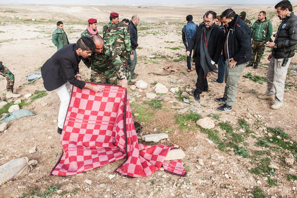 Desbois visits the mass graves of Yazidis in Sinjar, a Kurdish region of Iraq.