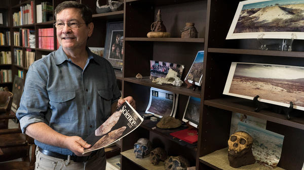 Rick Potts, director of the National Museum of Natural History's Human Origins Program at the Smithsonian. He has been excavating in the Southern Rift Valley in Kenya since the 1980s.
