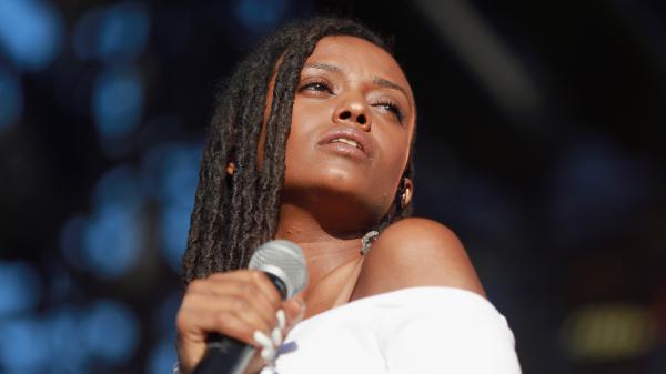 Kelela performing in Los Angeles, Calif. in October 2017.
