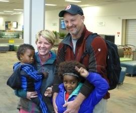 The Huelsman family — Brad and Niki with 3-year-old Girma and 6-year-old Isabela Kalkidan — arrived back in Ohio from Ethiopia in January. The couple may be among the last Americans to adopt a child from Ethiopia.