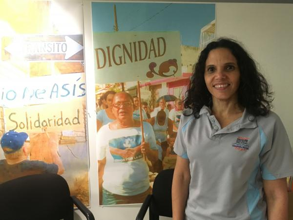 Lyvia Rodriguez del Valle works with one of Puerto Rico's largest informal communities, where many residents have been denied FEMA grants because they don't have title to their properties.