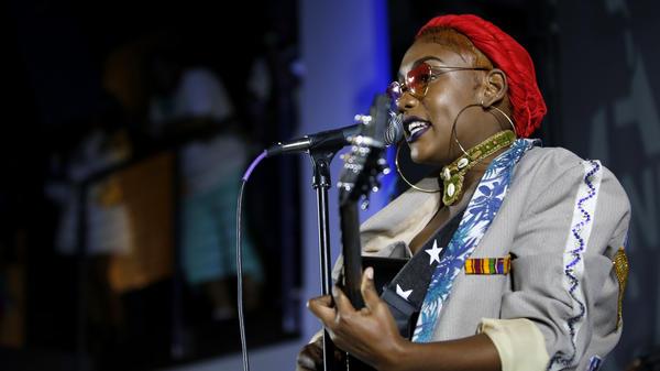 Nailah Blackman performs onstage during SXSW 2018.