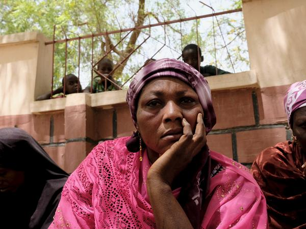 Rebecca Sharibu, mother of 15-year-old Leah, abducted by Boko Haram with 109 schoolmates last month. Leah remains a captive after refusing to renounce Christianity and become a Muslim.