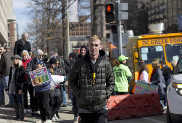 """Sam Zeif heads to the """"March for Our Lives"""" in Washington, D.C., on Saturday."""