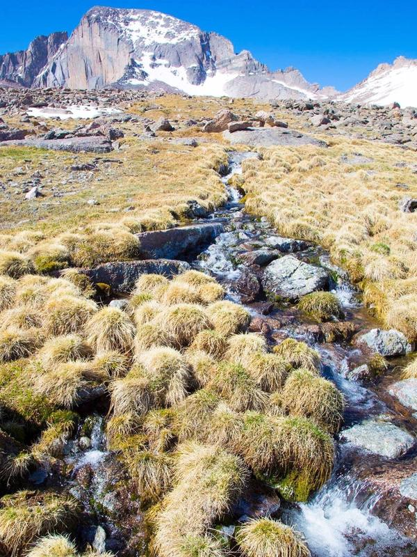 An intermittent stream on Longs Peak, in Rocky Mountain National Park, Colo.