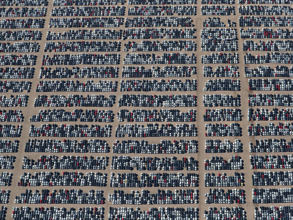 Reacquired Volkswagen and Audi diesel cars sit in a desert graveyard near Victorville, Calif., on Wednesday. Volkswagen AG has paid more than $7.4 billion to buy back about 350,000 vehicles, the automaker said in a recent court filing.