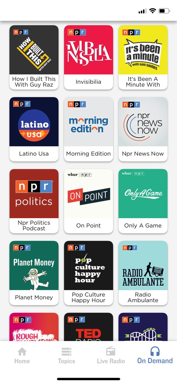 Listen to NPR podcasts