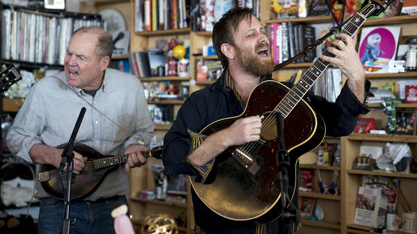 Dan Auerbach performs a Tiny Desk Concert on March 23, 2018 (Eslah Attar/NPR).