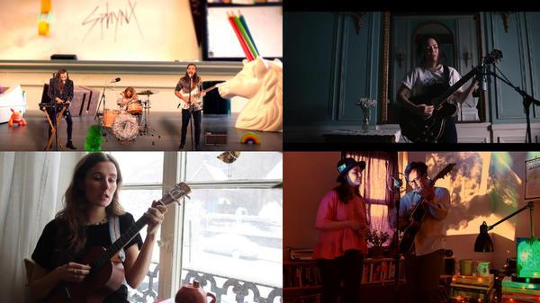 Clockwise from top left: Sphynx; Nature Shots; No No Boy; Rachel Varley