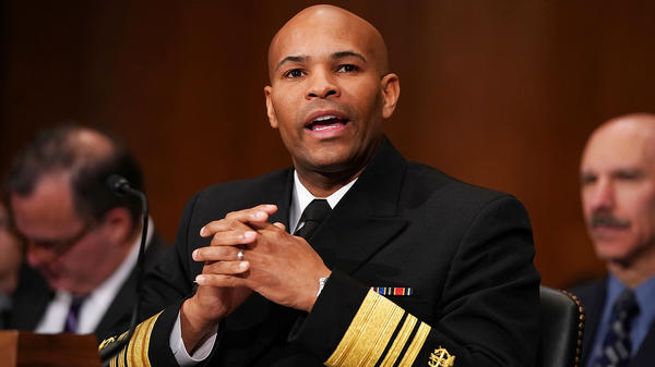 WASHINGTON, DC - NOVEMBER 15: U.S. Surgeon General Jerome Adams testifies before the Senate Health, Education, Labor and Pensions Committee in the Dirksen Senate Office Building on Capitol Hill November 15, 2017 in Washington, DC. Adams testified about community-level health promotion programs and businesses that offer incentives to employees that practice healthy lifestyles.