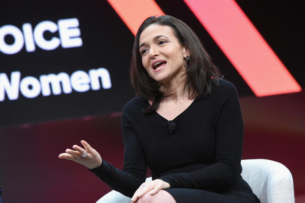 Facebook Chief Operating Officer Sheryl Sandberg speaks during the 2018 MAKERS Conference on Feb. 6 in Los Angeles.