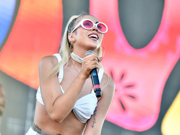 Kali Uchis performs at Tyler, The Creator's fifth annual Camp Flog Gnaw Carnival at Exposition Park in November 2016 in Los Angeles.