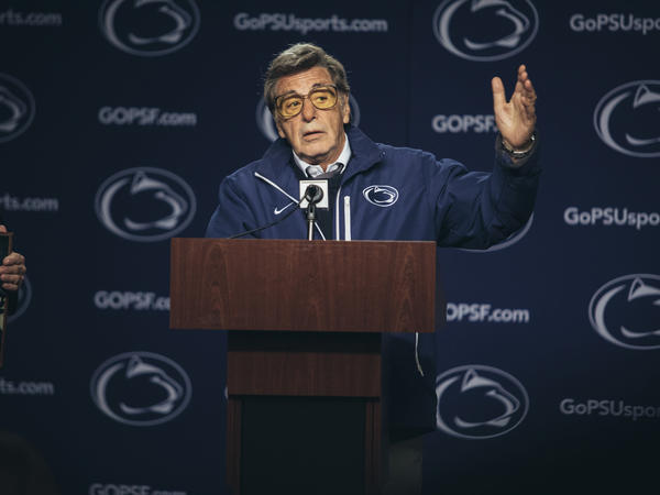 In this image released by HBO, Al Pacino portrays Joe Paterno in <em>Paterno</em>, a film about the late Penn State football coach. The movie directed by Barry Levinson debuts April 7.