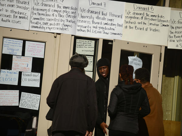 Students occupying the administration building at Howard University in Washington, D.C., called an end to the protest after school officials promised to meet most of their demands.
