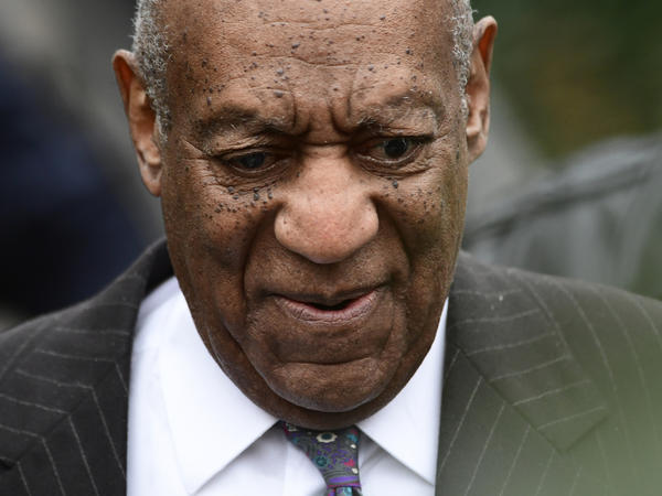 Bill Cosby leaves his sexual assault trial at the Montgomery County Courthouse, on Monday, April 9, 2018, in Norristown, Pa.