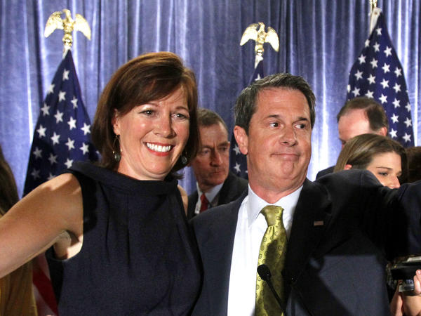 "Wendy Vitter, with her husband, David Vitter, after he was reelected to the Senate in 2010 despite being linked to the ""D.C. Madam"" scandal. Wendy Vitter is now nominated for a judgeship."