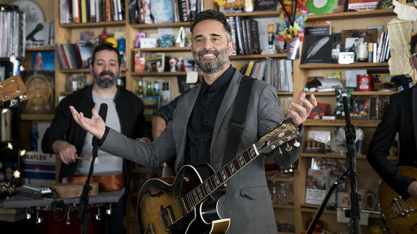 Jorge Drexer performs a Tiny Desk Concert on February 14, 2018 (Eslah Attar/NPR).