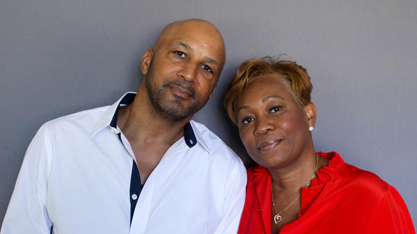 Dennis Simmonds, 57, and his wife Roxanne, 54, during a visit to StoryCorps.