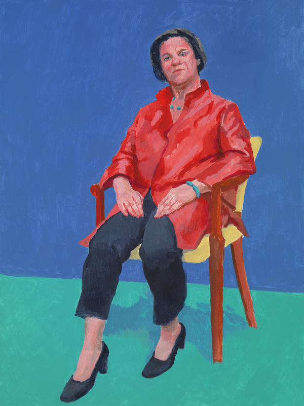"Exhibit curator Stephanie Barron says ""the rest of the world just fades away"" when you sit for Hockney."