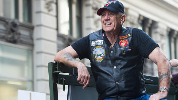 "Vietnam veteran and character actor R. Lee ""Gunny"" Ermey joined 700 Veterans as part of the IAVA/Victory Motorcycles presence at the 2014 America's Parade in New York. Ermey died Sunday from complications of pneumonia, his manager Bill Rogin said."