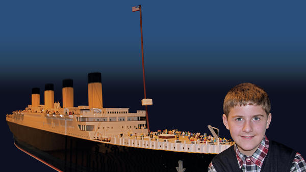 It took Brynjar Karl Birgisson 11 months to complete the world's largest Titanic replica, using only Legos.