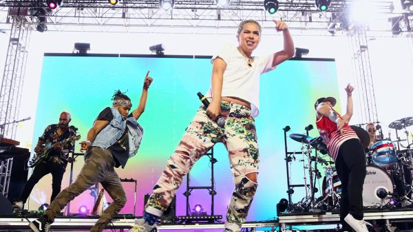 Hayley Kiyoko performs at 2018 Coachella Valley Music and Arts Festival Weekend 1 April 15, 2018 in Indio, Calif.