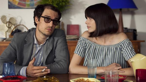 <em>Godard Mon Amour </em>colorfully chronicles the relationship  between Jean-Luc Godard (Louis Garrel) and Anne Wiazaemsky (Stacy Martin).