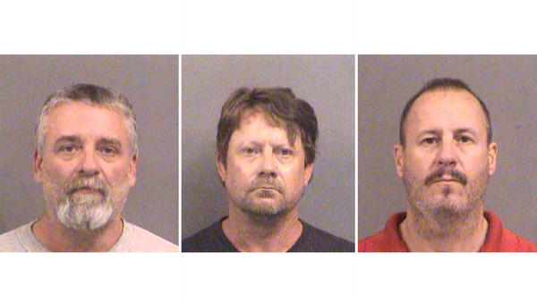 From left, Gavin Wright, Patrick Eugene Stein and Curtis Allen were convicted Wednesday of plotting to bomb a Kansas apartment complex housing Somali immigrants.