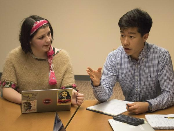 Lane Murdock (left) and Paul Kim are two of the student organizers for Friday's walkout.