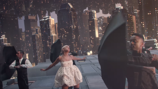 "Ariana Grande in the Dave Meyers-directed music video for ""No Tears Left to Cry."""