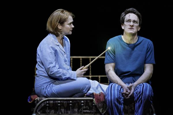 Jamie Parker plays Harry Potter, and Poppy Miller plays his wife, Ginny, in <em>Harry Potter and the Cursed Child</em>.