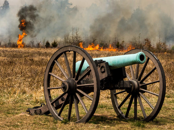 National Park Service wildland firefighters set a prescribed fire in Manassas National Battlefield Park's Brawner Farm area to help the area look more like Civil War soldiers would have seen it.