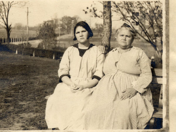 Carrie and Emma Buck in 1924, right before the Buck v. Bell trial, which provided the first court approval of a law allowing forced sterilization in Virginia.