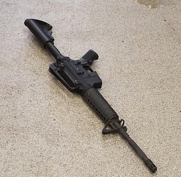 The rifle used in Sunday's deadly shooting at the Waffle House.