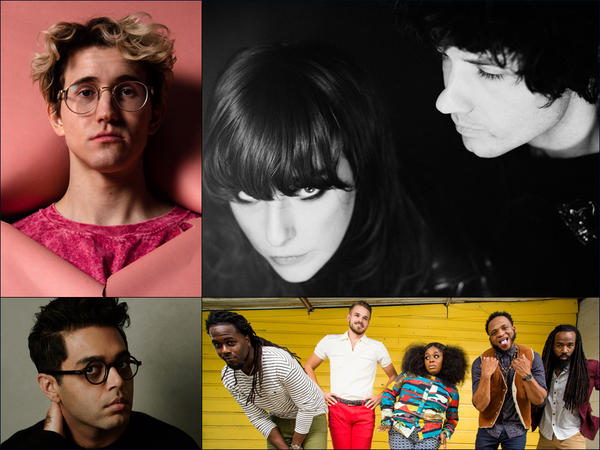 Clockwise from upper left: Stevie Wolf, Beach House, Tank And The Bangas, Rafiq Bhatia