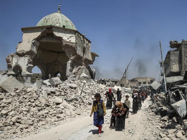 Mosul's Great Mosque of al-Nuri was destroyed in June 2017 by ISIS as government forces closed in on the city. The United Arab Emirates will contribute $50.4 million to restore the mosque and other cultural landmarks.