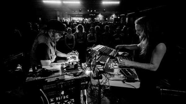 Daniel Lanois (left) and Venetian Snares' Aaron Funk.